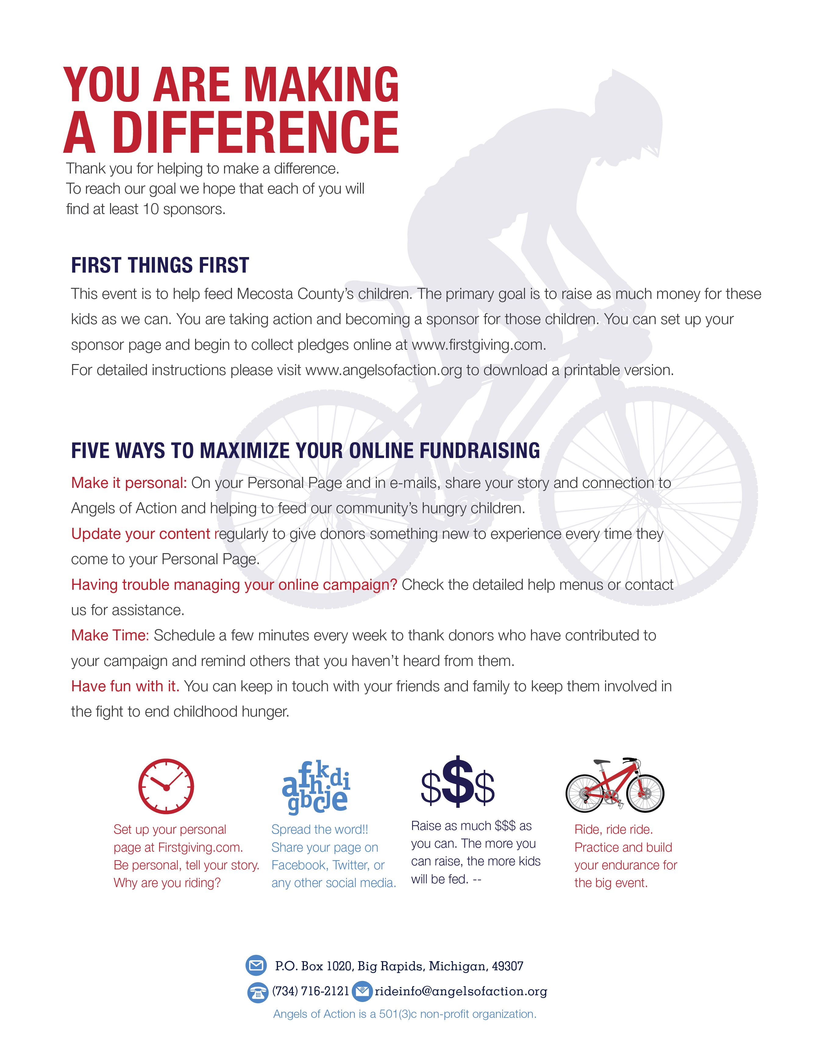 Rider Pledge Form – How to Make a Sponsor Form